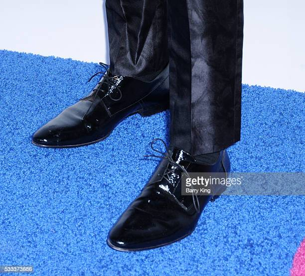 Singer Shawn Hook shoe detail attends the Kaleidoscope Ball at 3LABS on May 21 2016 in Culver City California