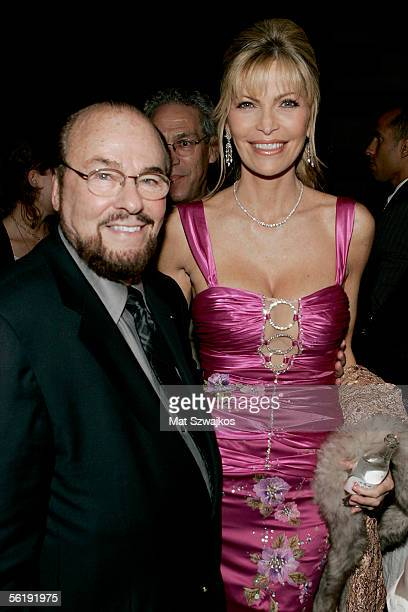 Singer Shawn King poses with James Lipton at the listening party for her new CD 'In My Own Backyard' hosted by Gotham Magazine at Lotus on November...