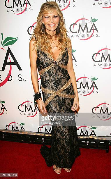 Singer Shawn King wife of TV personality Larry King attends the 39th Annual Country Music Association Awards at Madison Square Garden November 15...