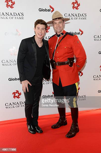 Singer Shawn Mendes and Constable Eryn Martin attend the 2015 Canada's Walk Of Fame Awards at the Sony Centre for the Performing Arts on November 7...