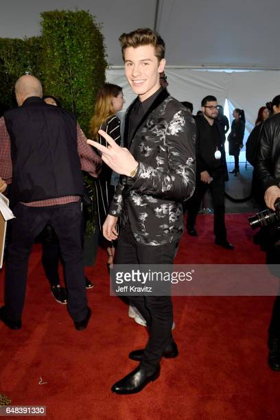 Singer Shawn Mendes attends the 2017 iHeartRadio Music Awards which broadcast live on Turner's TBS TNT and truTV at The Forum on March 5 2017 in...