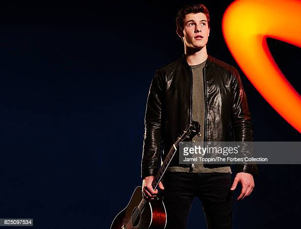 Singer Shawn Mendes is photographed for Forbes Magazine in December 2015 in New York City CREDIT MUST READ Jamel Toppin/The Forbes Collection/Contour...