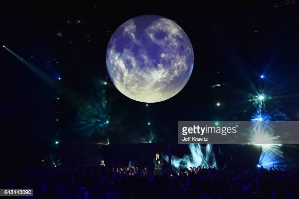 Singer Shawn Mendes onstage at the 2017 iHeartRadio Music Awards which broadcast live on Turner's TBS TNT and truTV at The Forum on March 5 2017 in...