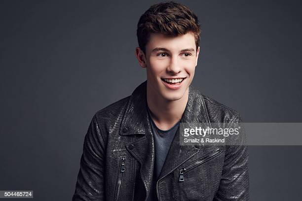 Singer Shawn Mendes poses for a portrait at the 2016 People's Choice Awards at the Microsoft Theater on January 6 2016 in Los Angeles California