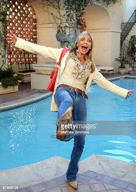Singer Shawn Southwick fools around by the pool during the 'Style 2005' Golden Globe Retreat at the Regent Beverly Wilshire Hotel on January 15 2005...
