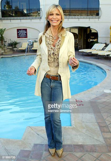 Singer Shawn Southwick poses by the pool during the 'Style 2005' Golden Globe Retreat at the Regent Beverly Wilshire Hotel on January 15 2005 in...