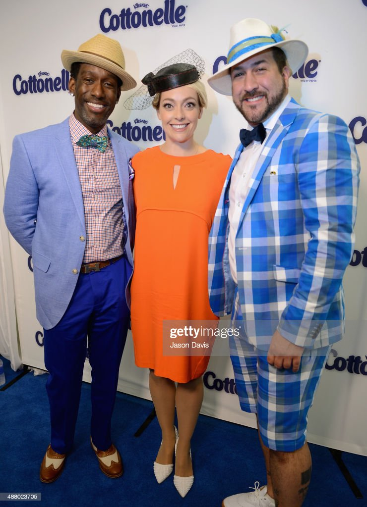 Singer Shawn Stockman, Cottonelle spokesperson and documentary filmmaker Cherry Healey and singer Shawn Stockman attend Cottonelle Celebrity 'Clean Room' at the 140th Kentucky Derby at Churchill Downs on May 3, 2014 in Louisville, Kentucky.