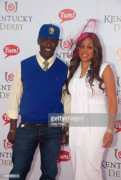 Singer Shawn Stockman of Boyz ll Men and his wife Sharonda Jones attend the 137th Kentucky Derby at Churchill Downs on May 7 2011 in Louisville...