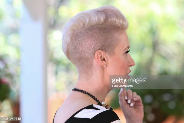 Singer Shawna Thompson Hair Detail of the Country Music Duo Thompson Square visits Hallmark's Home Family at Universal Studios Hollywood on September...