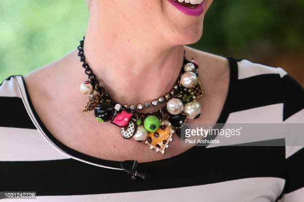 Singer Shawna Thompson Jewelry Detail of the Country Music Duo Thompson Square visits Hallmark's Home Family at Universal Studios Hollywood on...