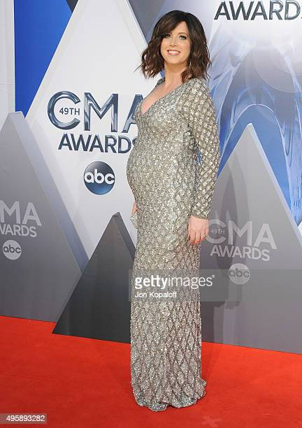 Singer Shawna Thompson of Thompson Square attends the 49th annual CMA Awards at the Bridgestone Arena on November 4 2015 in Nashville Tennessee