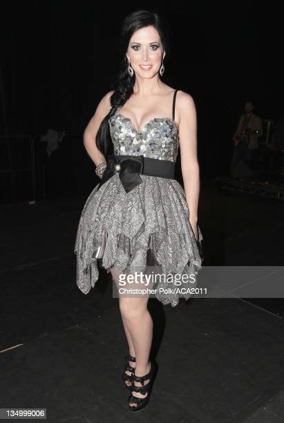 Singer Shawna Thompson of Thompson Square attends the American Country Awards 2011 at the MGM Grand Garden Arena on December 5 2011 in Las Vegas...