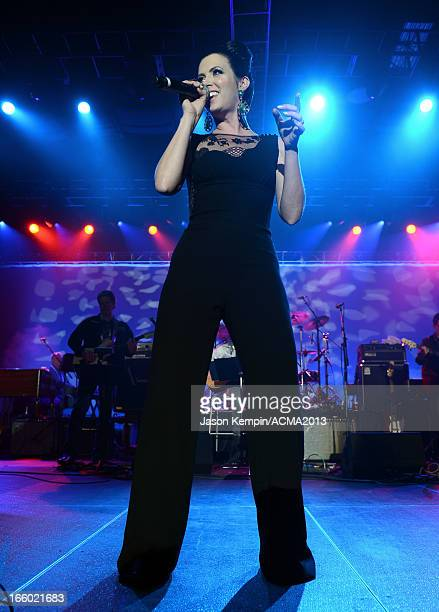 Singer Shawna Thompson of Thompson Square performs onstage at the All Star Jam during the 48th Annual Academy Of Country Music Awards at the MGM...