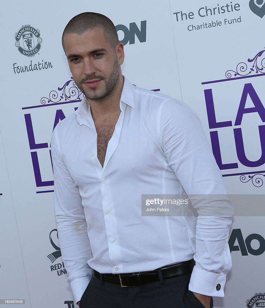 Singer Shayne Ward arrives at the Manchester United Foundation Ladies Lunch, raising money for The Christie Charity and Francis House Children's Hospice, at Old Trafford on September 30, 2013 in Manchester, England.