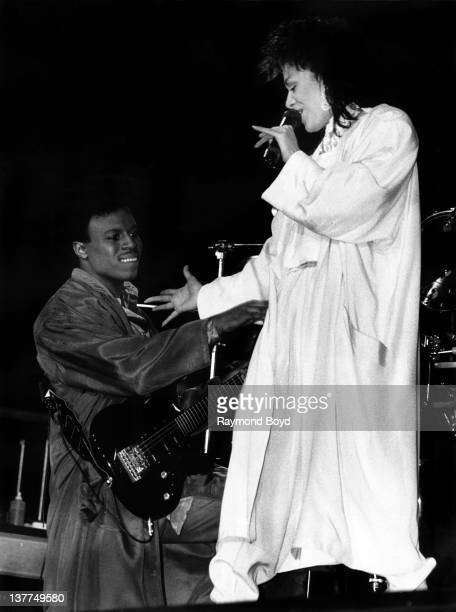 Singer Sheila E performs at the UIC Pavilion in Chicago Illinois in 1986