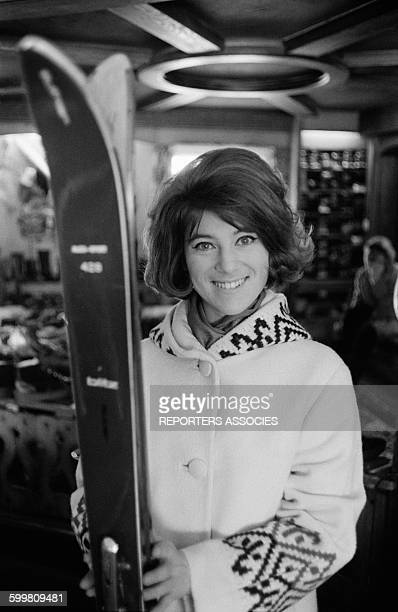 Singer Sheila Leaves In A Ski Store In France Circa 1960