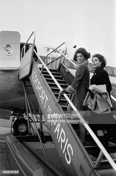 Singer Sheila Leaves Paris For The United States In Paris France Circa 1960