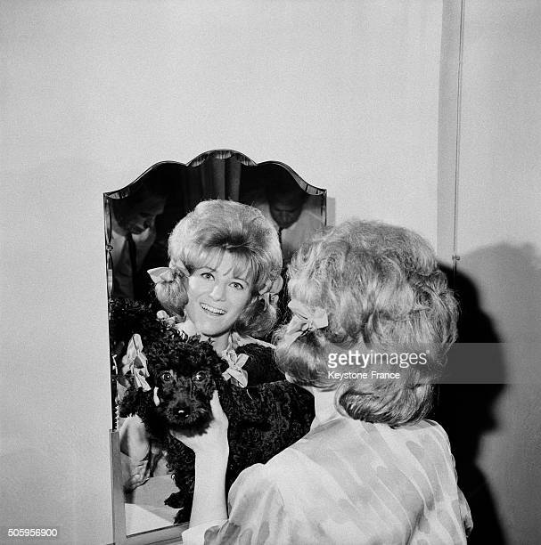 Singer Sheila's New Poodle Hairstyle With Bunches in Paris France on June 10 1963