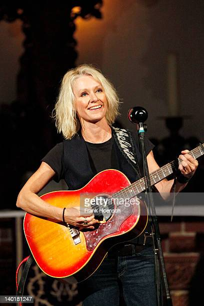 Singer Shelby Lynne performs live during a concert at the Passionskirche on February 29 2012 in Berlin Germany