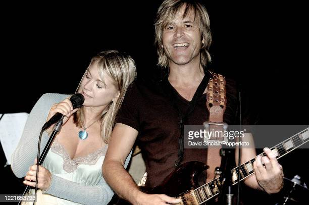 Singer Shelley Preston and guitarist Steve Norman of Cloudfish perform live on stage at Ronnie Scott's Jazz Club in Soho London on 16th July 2007...