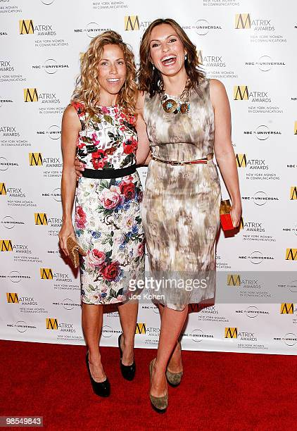 Singer Sheryl Crow and actress Mariska Hargitay attends the 2010 Matrix Awards presented by New York Women in Communications at The Waldorf Astoria...
