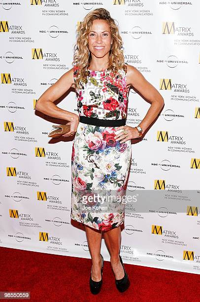 Singer Sheryl Crow attends the 2010 Matrix Awards presented by New York Women in Communications at The Waldorf Astoria on April 19 2010 in New York...