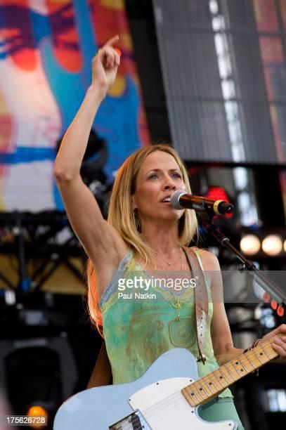 Singer Sheryl Crow performs at Eric Clapton's Crossroads Guitar Festival, at Toyota Park,Bridgeview, Illinois, June 26, 2010.