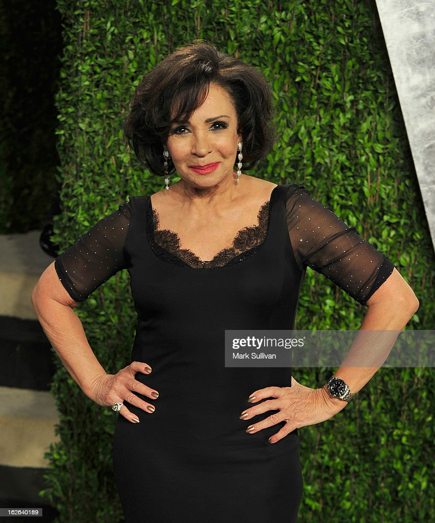 Singer Shirley Bassey arrives at the 2013 Vanity Fair Oscar Party at Sunset Tower on February 24, 2013 in West Hollywood, California.