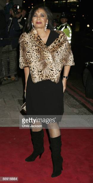 Singer Shirley Bassey attends the 80th birthday party for former British Prime Minister Margaret Thatcher at the Mandarin Oriental on October 13 2005...