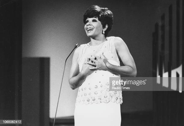 Singer Shirley Bassey pictured performing March 7th 1979