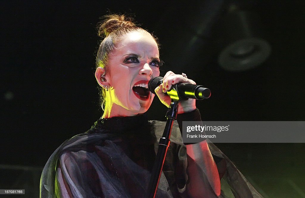 Singer Shirley Manson of Garbage performs live during a concert at the Huxleys on November 27, 2012 in Berlin, Germany.