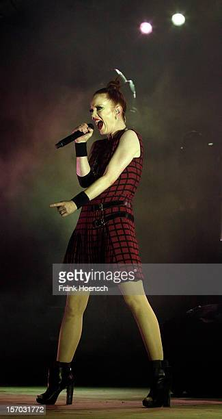 Singer Shirley Manson of Garbage performs live during a concert at the Huxleys on November 27 2012 in Berlin Germany