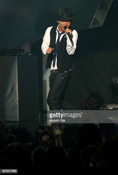 Singer Shota Shimizu performs during the MTV Student Voice Awards 2008 at Shinkiba Studio Coast on August 26, 2008 in Tokyo, Japan.