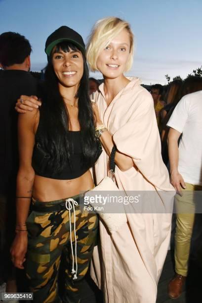 Singer Shy'm and model Iguana Butane attend 'Ibiza Boheme' Launch Party By BHV Marais on BHV Marais Boat on June 7 2018 in Paris France