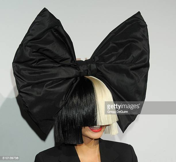 Singer Sia arrives at The Creators Party Presented by Spotify Cicada Los Angeles at Cicada on February 13 2016 in Los Angeles California