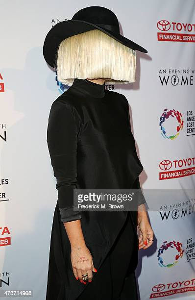 Singer Sia attends An Evening with Women Benefiting the Los Angeles LGBT Center at the Hollywood Palladium on May 16 2015 in Los Angeles California
