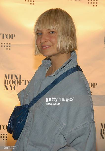 Singer Sia attends Mini Rooftop NYC Hosts GOOD Magazine Party at One Space on September 8 2008 in New York City