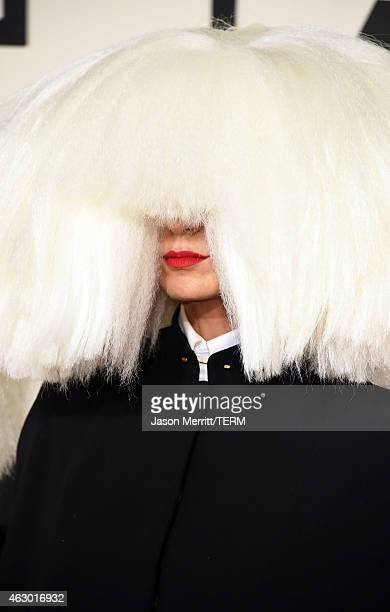 Singer Sia attends The 57th Annual GRAMMY Awards at the STAPLES Center on February 8 2015 in Los Angeles California