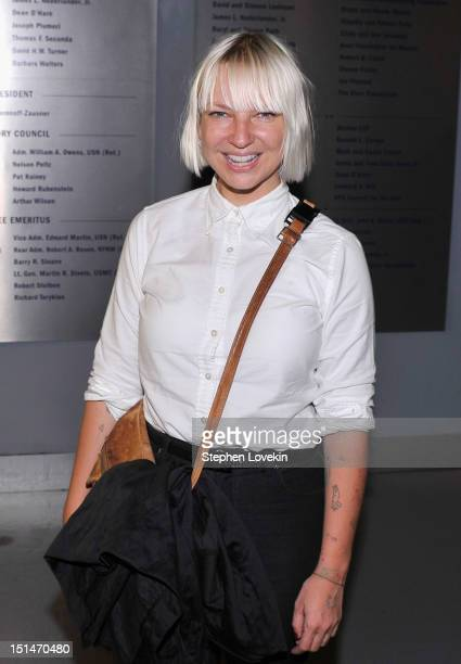 Singer Sia Furler attends the Showtime and Time Warner Cable hosted premiere screening and reception to launch the second season of Homeland at the...