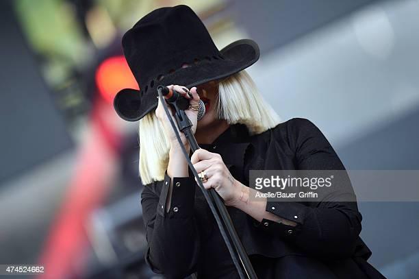 Singer Sia performs at the 102.7 KIIS FM's Wango Tango at StubHub Center on May 9, 2015 in Los Angeles, California.
