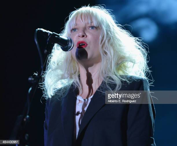 Singer Sia performs onstage at 'TrevorLIVE LA' honoring Jane Lynch and Toyota for the Trevor Project at Hollywood Palladium on December 8 2013 in...