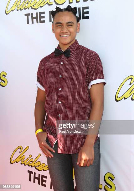 "Singer Siaki Sii attends the Gen-Z Studio Brat's premiere of ""Chicken Girls"" at The Ahrya Fine Arts Theater on June 28, 2018 in Beverly Hills,..."