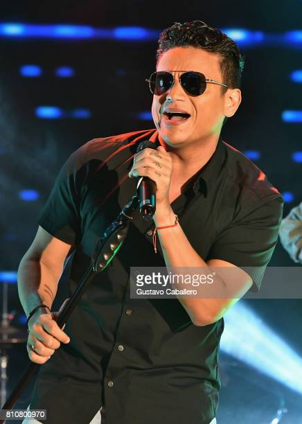 Singer Silvestre Dangond is seen on the set of 'Despierta America at Univision Studios on July 7 2017 in Miami Florida