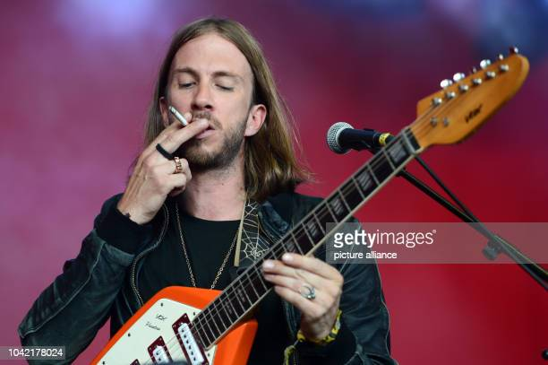 Singer Simon Milner of the British band Is Tropical performs on stage during the Berlin Festival on the premises of the former airport Tempelhof in...