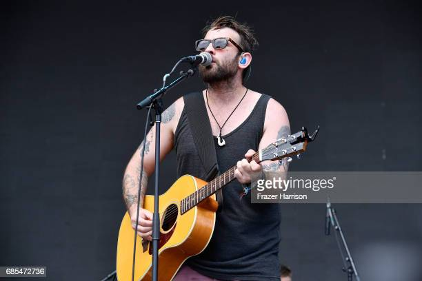 Singer Simon Ward of The Strumbellas performs at the Surf STage during 2017 Hangout Music Festival on May 19 2017 in Gulf Shores Alabama