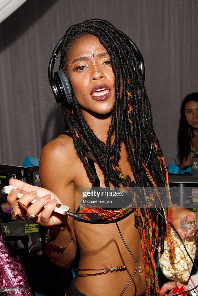 Flips Audio Exclusive Headphone Sponsor Of Wango Tango Backstage : News Photo