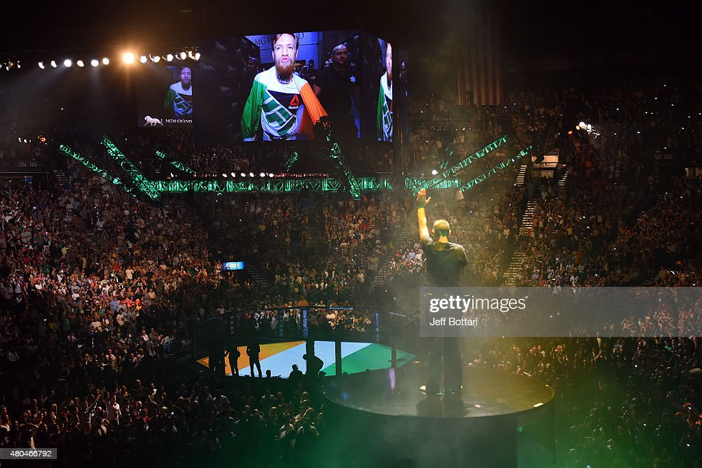 Singer Sinead O'Connor performs during the UFC 189 event inside MGM Grand Garden Arena on July 11, 2015 in Las Vegas, Nevada.