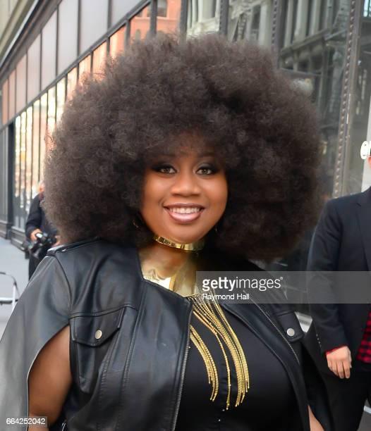 Singer Singer La'Porsha Renae is seen walking in Soho on April 3, 2017 in New York City.