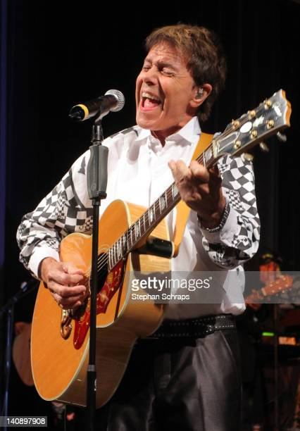 Singer Sir Cliff Richard performs at the 'Goya' Club at Nollendorfplatz at the celebrationparty due to the 100 years existence of SixtCarRental on...