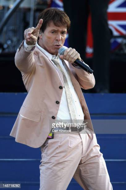 Singer Sir Cliff Richard performs on stage during the Diamond Jubilee concert at Buckingham Palace on June 4 2012 in London England For only the...